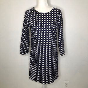 J. Crew long sleeve print dress zipper detail 0